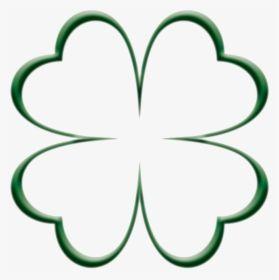 Four Leaf Clover Outline Clipart Png Download 4 Leaf Clover Hearts Transparent Png Four Leaf Clover Tattoo Clover Leaf Clover Tattoos