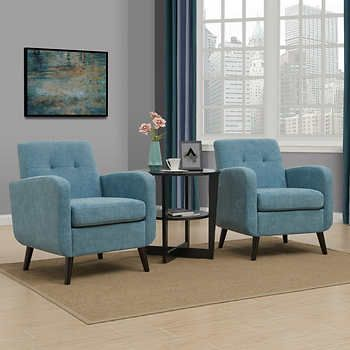 Simon Fabric Chair 2 Pack Living Room Chairs Chair Fabric