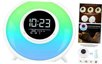 Details About Sunrise Wake Up Light Alarm Clock Sleep Sound Machine Fm Radio 11 Colors In 2020 Light Alarm Clock Alarm Clock Sunrise Alarm Clock