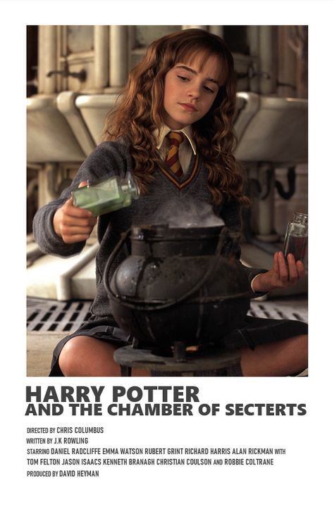 chamber of secrets Harry Potter Poster, Harry Potter Movies, Iconic Movie Posters, Minimal Movie Posters, Iconic Movies, Film Polaroid, Film Poster Design, Poster Designs, Image Deco