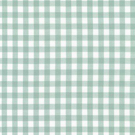 Kitchen Window Wovens Small Gingham Sage Stonemountain Daughter Fabrics Gingham Fabric Small Gingham Modern Fabric
