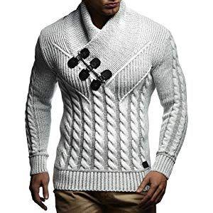 LEIF NELSON Herren Strickpullover Pullover Hoodie Sweatshirt LN5500