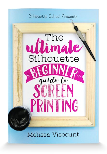 Advantages of Screen Printing with Silhouette and Vinyl (and book #9)