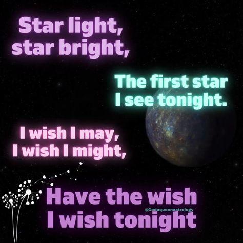Make a wish #starbright #mercury #mercuryastrology