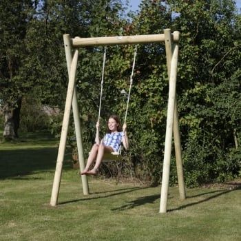 Langley Single Swing Frame With Heavy Duty Rubber Adult Swing Seat