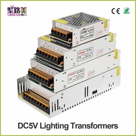 Excessive Quality Dc5v 12v 24v 36v Led Strip Energy To Adapter Ac100 240v 1a 2a 3a 4a 5a 6a 8a 10a 15a 20a 30a 40a 50a 60apower Provide
