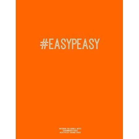Notebook For Cornell Notes 120 Numbered Pages Easypeasy Orange