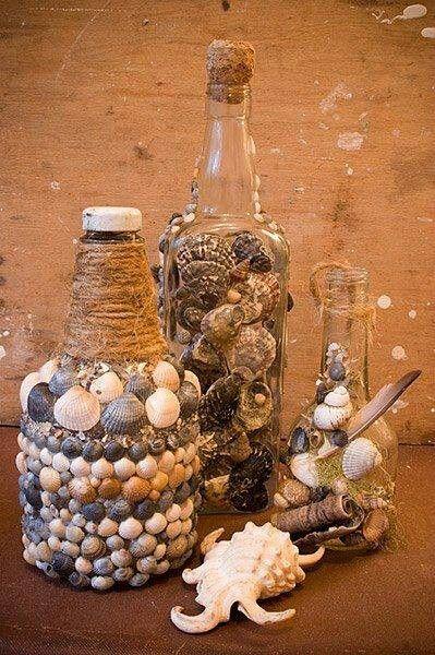 Conchas on pinterest conchas de mar mars and manualidades - Manualidades con conchas ...