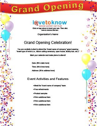 Blank Grand Opening Flyer Designs  Business Grand Opening Flyer