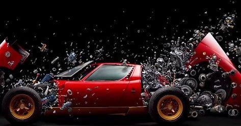Exploding Lamborghini Miura Photo Is Downright Mesmerizing