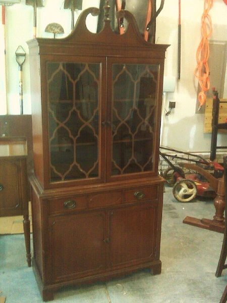 China Cabinet. Thomasville 1940's Federal style - FEDERAL STYLE ...