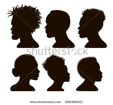 Beautiful Woman With Hairstyles Silhouettes Vector Elements Download Free Vector Art Stock Graphics Im Female Profile Silhouette Vector Woman Silhouette