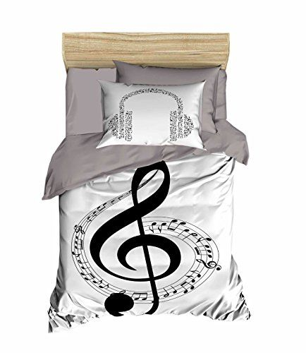 Bekata Music Bedding Set 3d Printed Quilt Duvet Cover Set Single Twin Size Black White Bedding Set Made White Bed Set Black White Bedding Quilted Duvet Cover