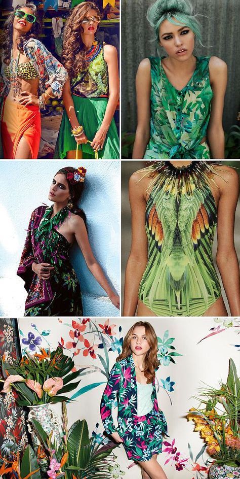 Fashion prints Tropical and flowers
