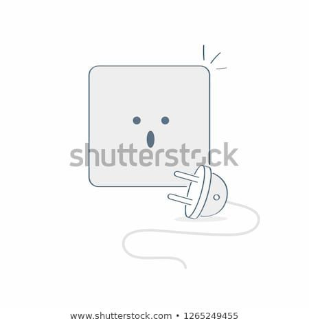 Electric Socket Unplugged 404 Error Page Disconnection Internet Connection Problem Flat Line Vector Illustration On W Error Page Unplug Simple Illustration