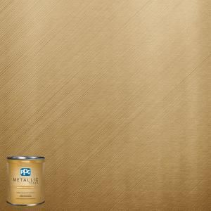 Ppg Metallic Tones 1 Qt Mtl137 Gilded Gold Metallic Interior Specialty Finish Paint Mtl137 04 The Gold Painted Walls Metallic Paint Walls Gold Paint Colors
