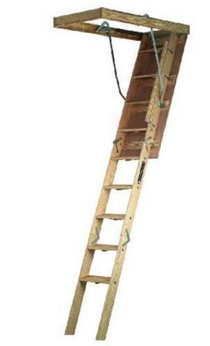 Louisville Ladder Cs224p Folding Wide Attic Ladder 22 5 X 54 Attic Renovation Attic Ladder Attic Bedrooms