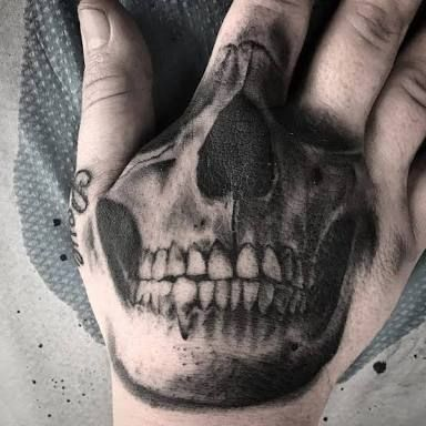 Image Result For Mens Hand Skull Tattoos Skull Hand Tattoo Hand Tattoos Hand Tattoos For Guys
