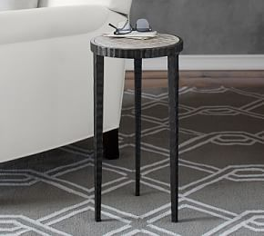 Jamie 12 Round Metal Accent Table Metal Accent Table Accent Table Wood Accent Table