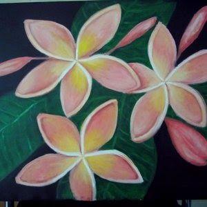 Gambar Bunga Yang Mudah Dilukis Lukisan Bunga Kamboja Pink Bunga