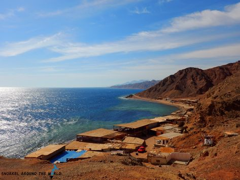 Snorkeling places in Egypt - Blue Hole Dahab. The iconic Blue Hole in Dahab is one of the best special snorkeling places in Egypt and famous worldwide. Year after year, thousands  of dives, freedivers and snorkelers come here to discover this unique place and explore the magnificient coral garden of the Red Sea. #dahab# egypt #redsea #bestdivesites