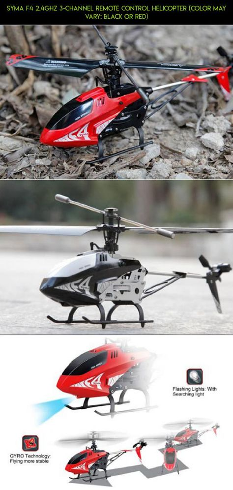 Color may vary: Black or Red Syma F4 2.4GHz 3-Channel Remote Control Helicopter