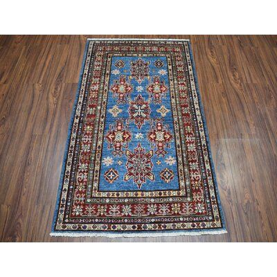 Canora Grey One Of A Kind Karen Hand Knotted 3 3 X 5 1 Wool Red Area Rug Blue Area Rugs Rugs Oriental Rug