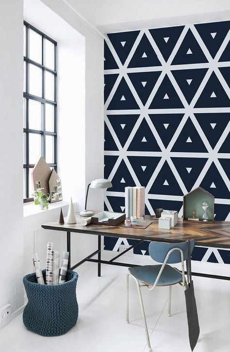 30 Ideas Wall Painting Designs Triangles For 2019 En 2020 Decor