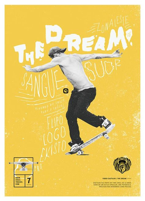 Seven days before the release of the Crail Trucks Website we started a countdown. We developed 7 unique posters of unpublished illustrations, with leading skaters from Crail's Team. They all sign trucks models of the brand.Each Crailer has very specific…