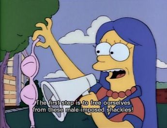 From the Simpsons, this character along with Lisa Simpson are depicted as feminists The Simpsons, Physics Humor, Engineering Humor, Lisa Simpson, Billie Eilish, Selena Gomez, Ariana Grande, Funny Tweets Twitter, Vintage Cartoon