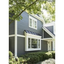 James Hardie 8 25 In X 144 In Colorplus Hz10 Hardieplank Evening Blue Beaded Cedarmill Fiber Cement Lap Siding Lowes Com In 2020 House Exterior House Siding Bay Window Exterior