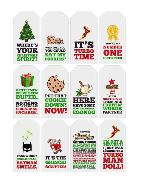 Jingle All The Way Quote Gift Tags | Printable | Typography