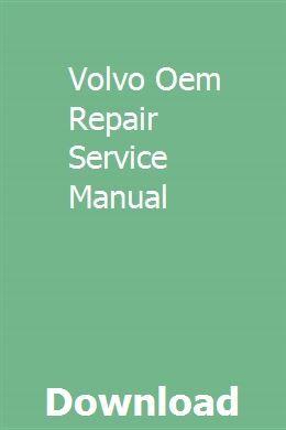 Volvo Oem Repair Service Manual Volvo Ford Probe Gt Honda Service