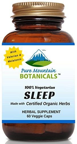Natural Sleep Aid With Organic Valerian Chamomile Passion Flower Skullcap Melatonin Hops More 60 Vegetarian Capsules Herbal Non Habit Forming Fenugreek Capsules Veggie Caps Cranberry Pills