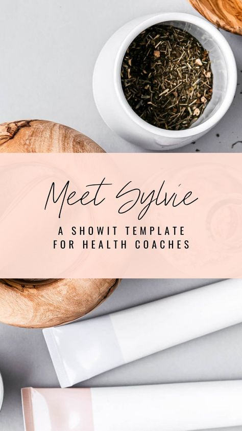Showit Website Template for Health Coaches