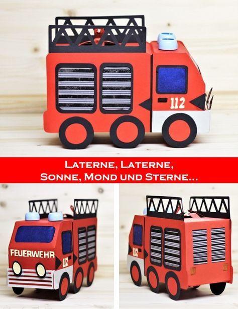 Feuerwehr Laterne Laterne Basteln Anleitung Laternen