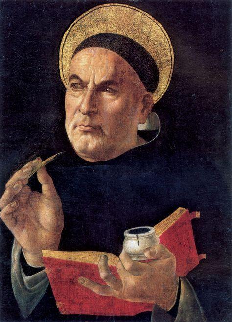 St. Thomas Aquinas (1481-1482). (Attributed to) Sandro Botticelli (Italian, Renaissance, 1445-1510)