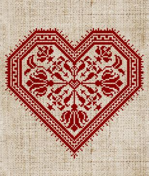 Cross-stitch heart. #embroidery #cross-stitch