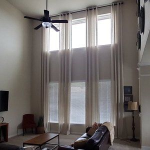 Sheer Curtains For High Ceiling