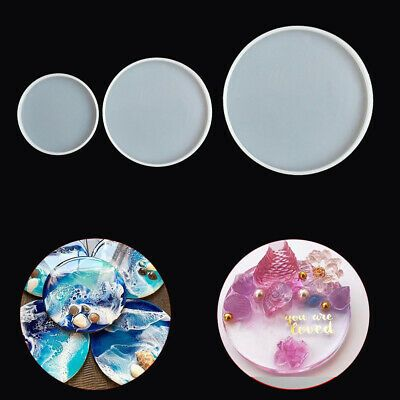Fluid Arts Jewelry Making Mould Epoxy Resin Casting Molds Silicone Coaster Mold