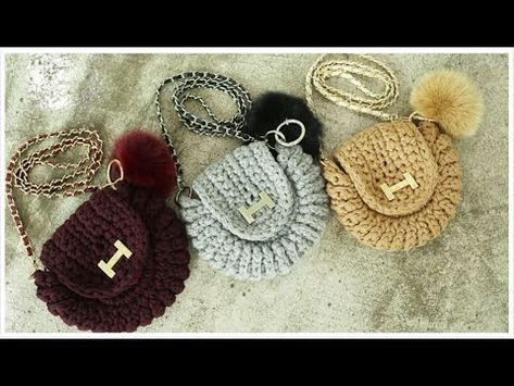 (코바늘 가방뜨기)(ENG SUB)crochet mini Bag tutorial /CrochetClutch bag Bag/by 뜰래아 - YouTube