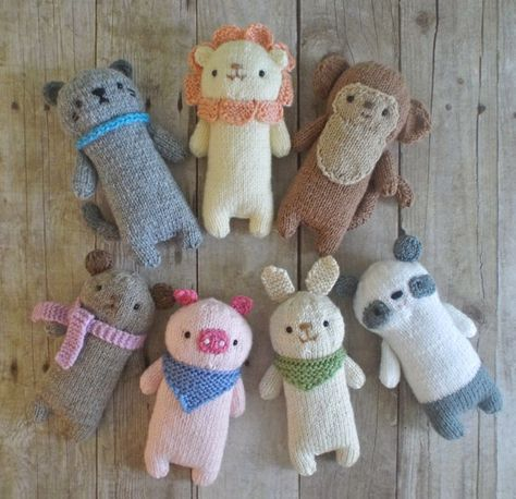 Knit Baby Animals Pattern Set Digital Download by AmyGaines