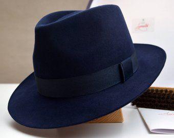 Fedora The Clubber Light Blue Fedora Hat For Men Mens Etsy Fedora Hat Men Wide Brim Hat Men Fedora
