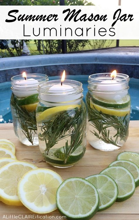 As much as I enjoy summer BBQs, nothing has me running in faster than being attacked by mosquitoes. Lucky for me, I came across this non-toxic repellent which is not only effective, but looks AND smells pretty too! #winning    Here's what you need:   4 Mason Jars (you can also recycle jelly jar...
