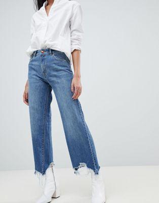 DL1961 Womens Hepburn High Rise Wide Leg