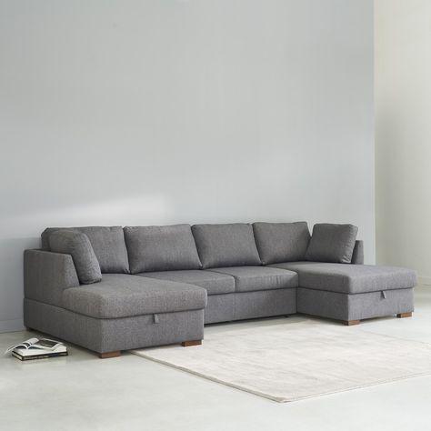 Canape Lit Panoramique 7 Places Gris U Shaped Sofa Bed U Shaped