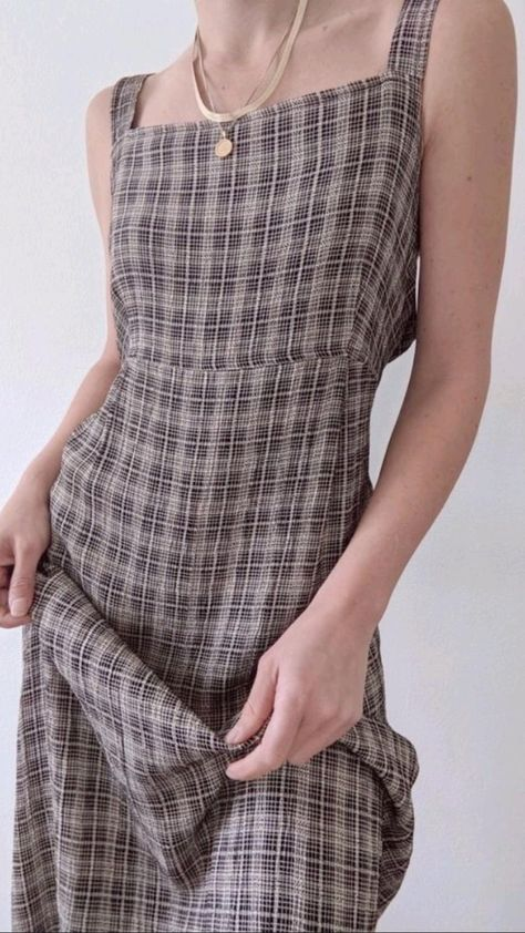 Vintage Plaid Dress Outfit