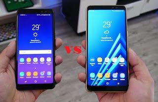 مقارنة بين هاتف سامسونج Samsung Galaxy A8 Plus 2018 و Samsung Galaxy A8 2018 Samsung Galaxy Galaxy Samsung