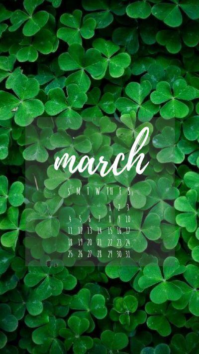 How To Use Canva To Make Calendar Phone Wallpapers Spring Wallpaper St Patricks Day Wallpaper Calendar Wallpaper
