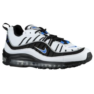 2de7a91e3d87 Nike Air Max 98 - Men s - White Black Metallic Silver Hyper Cobalt ...